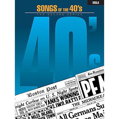 Hal Leonard Songs of the '40s (Viola) Instrumental Folio Series