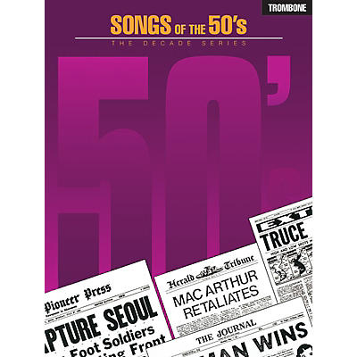 Hal Leonard Songs of the '50s (Trombone) Instrumental Folio Series