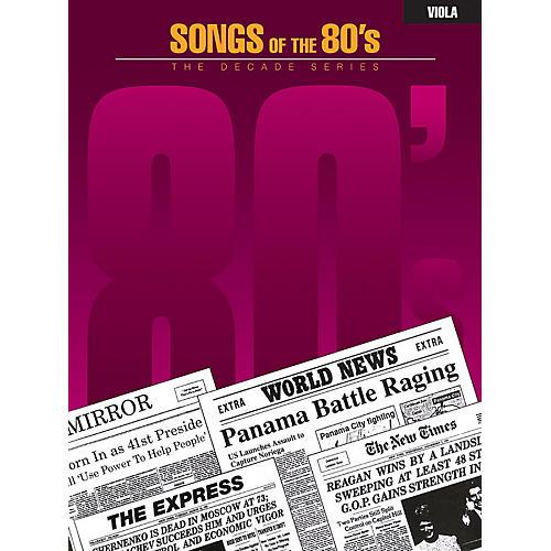 Hal Leonard Songs of the '80s (Viola) Instrumental Folio Series