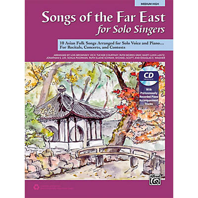 Alfred Songs of the Far East for Solo Singers Book & Acc. CD Medium High