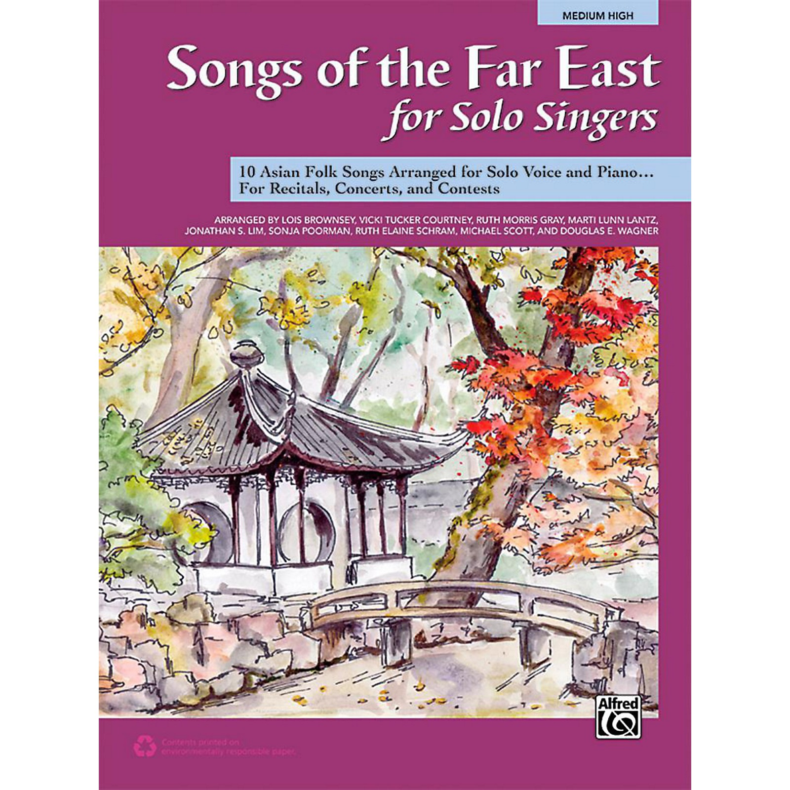 Alfred Songs of the Far East for Solo Singers Book Medium High