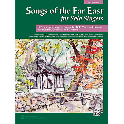 Alfred Songs of the Far East for Solo Singers Book Medium Low