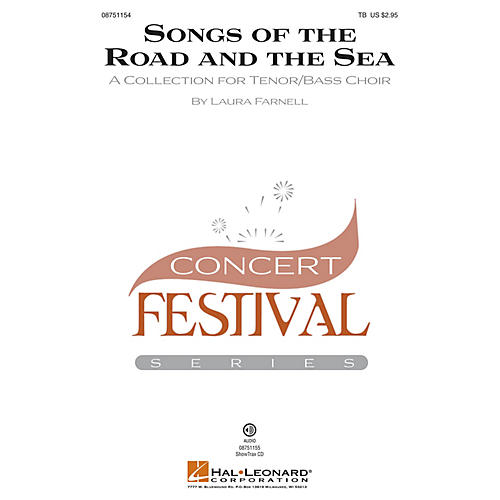 Hal Leonard Songs of the Road and the Sea (A Collection for Tenor Bass Choir) TB composed by Laura Farnell
