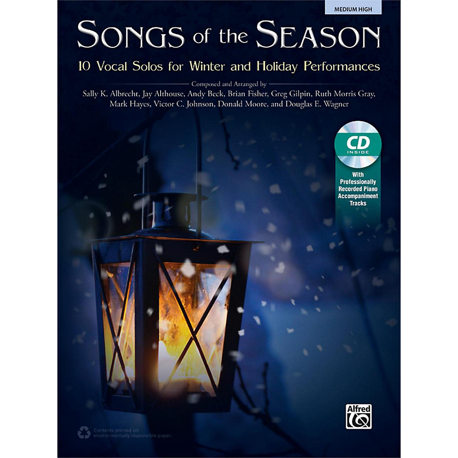 Alfred Songs of the Season Medium High Book & Acc. CD