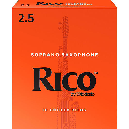 Rico Soprano Saxophone Reeds, Box of 10 2.5