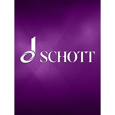 Schott Soror Mystica (Double Bass Solo) String Solo Series Softcover