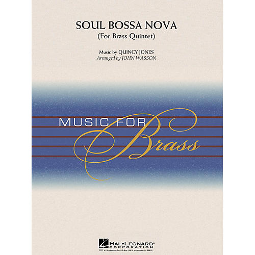 Hal Leonard Soul Bossa Nova (Brass Quintet (opt. Percussion)) Concert Band Level 3-4 Arranged by John Wasson