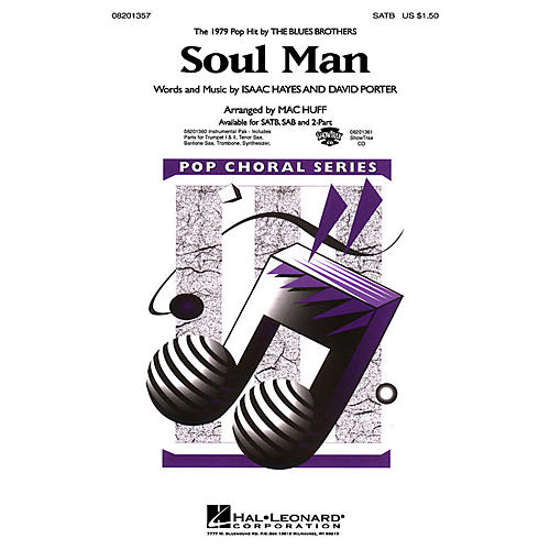 Hal Leonard Soul Man SATB by Blues Brothers arranged by M Huff