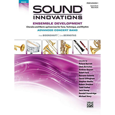 Alfred Sound Innovations Concert Band Ensemble Development Advanced Percussion 1