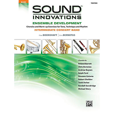 Alfred Sound Innovations Concert Band Ensemble Development Timpani Book