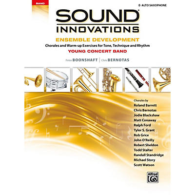 Alfred Sound Innovations for Concert Band - Ensemble Development for Young Concert Band Alto Saxophone