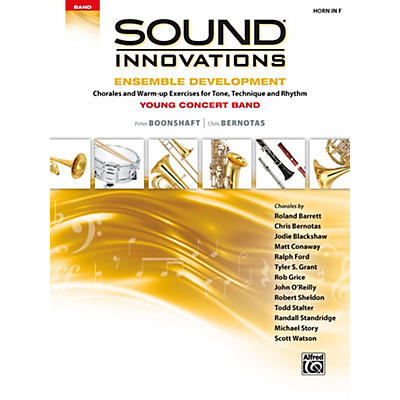 Alfred Sound Innovations for Concert Band - Ensemble Development for Young Concert Band Horn in F
