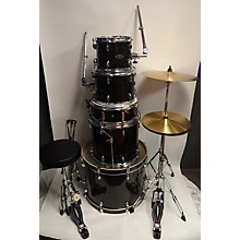 SPL Sound Percussion Labs UNITY II 5-Piece Complete Drum Set With Hardware, Cymbals And Throne Black Onyx Glitter Drum Kit