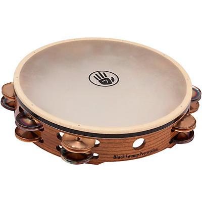 "Black Swamp Percussion SoundArt Series Double-Row 10"" Tambourine With Calf Head"