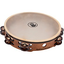 "Black Swamp Percussion SoundArt Series Double Row 10"" Tambourine with Calf Head"