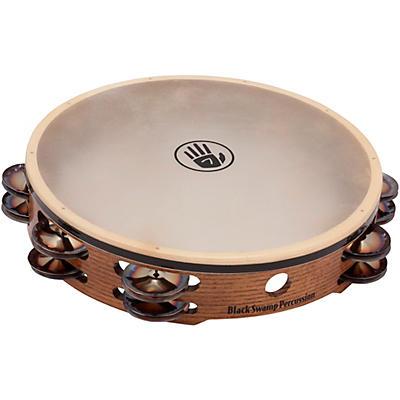 "Black Swamp Percussion SoundArt Series Double Row 10"" Tambourine with Calf Head"