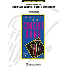 Hal Leonard Soundtrack Highlights from Jurassic World: Fallen Kingdom Young Concert Band Level 3 Arranged by Michael Brown