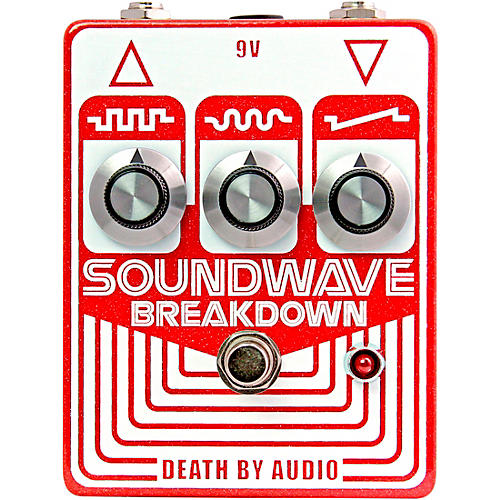 Death By Audio Soundwave Breakdown Octave Fuzz Effects Pedal Red and White