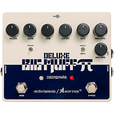 Electro-Harmonix Sovtek Deluxe Big Muff Pi Distortion/Sustainer Effects Pedal