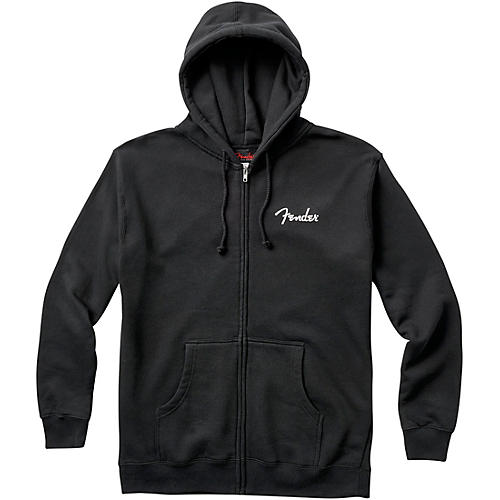 Fender Spaghetti Logo Zip Hoodie Medium Black