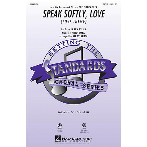 Hal Leonard Speak Softly Love ShowTrax CD Arranged by Kirby Shaw