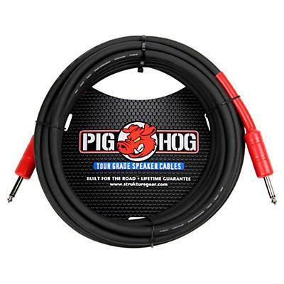 "Pig Hog Speaker Cable 14 Gauge Wire 1/4"" to 1/4"""