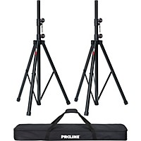 Deals on Proline Speaker Stand 2-Pack with Carrying Bag