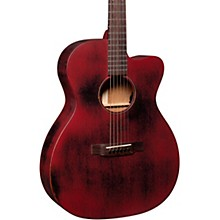 Martin Special OMC 15ME Streetmaster Style Acoustic-Electric Guitar Weathered Red