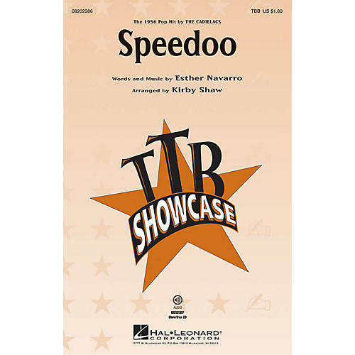 Hal Leonard Speedoo TBB by The Cadillacs arranged by Kirby Shaw
