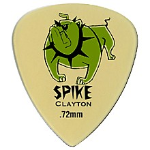Clayton Spike Ultem Gold Sharp Standard Guitar Picks 1 Dozen