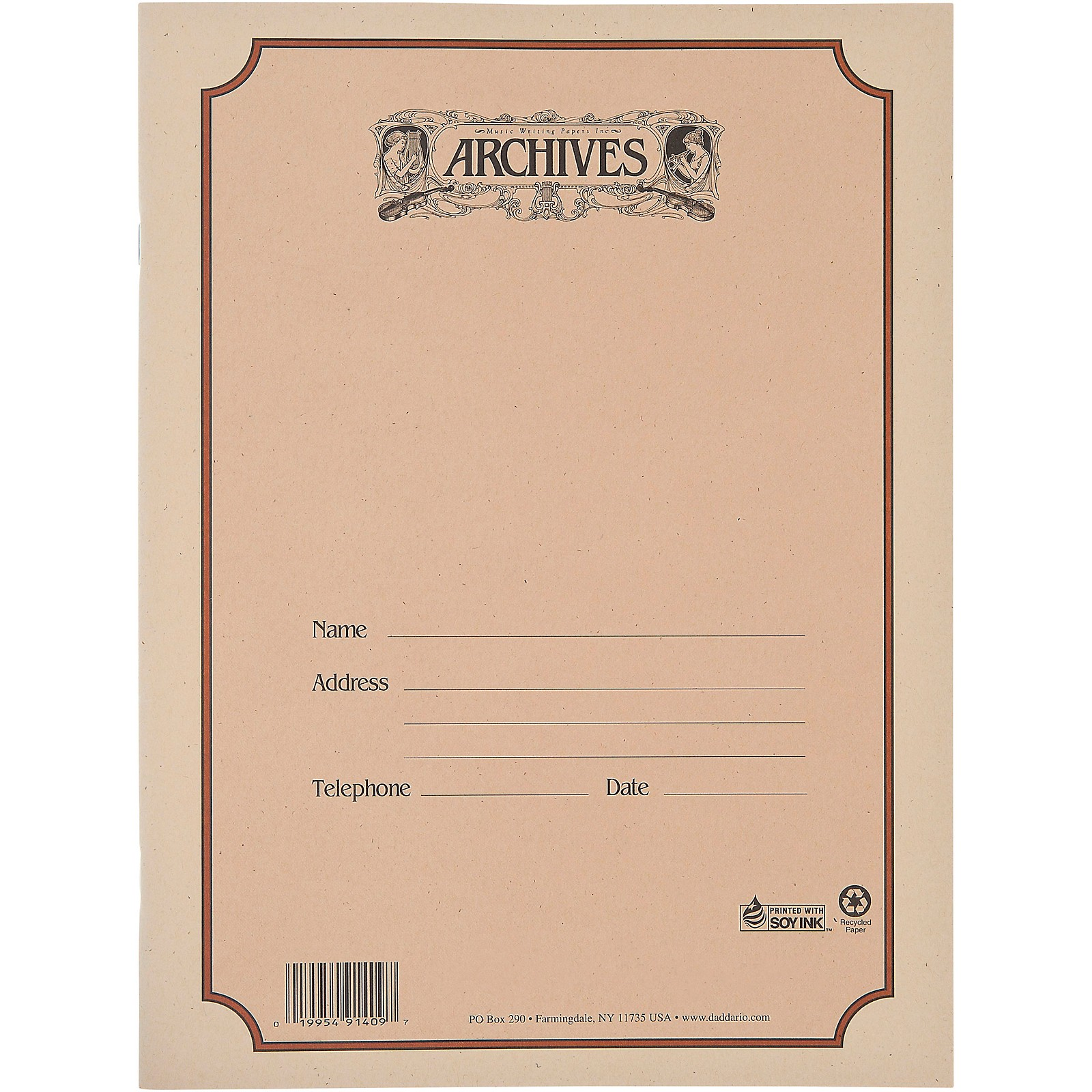 Archives Spiral Bound Manuscript Paper 12 Staves, 96 Pages