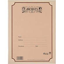 Archives Spiral Bound Manuscript Paper 12 Staves