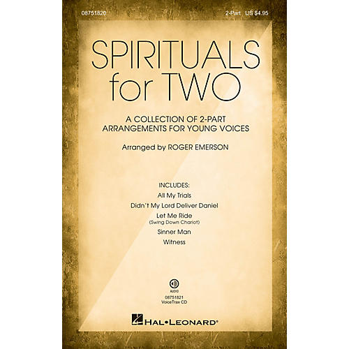 Hal Leonard Spirituals for Two 2-PART COLLECTION arranged by Roger Emerson