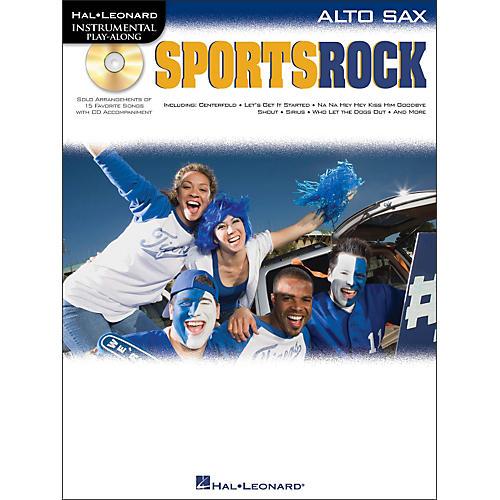 Hal Leonard Sports Rock for Alto Sax - Instrumental Play-Along Book/CD Pkg