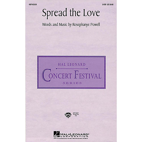 Hal Leonard Spread the Love ShowTrax CD Composed by Rosephanye Powell