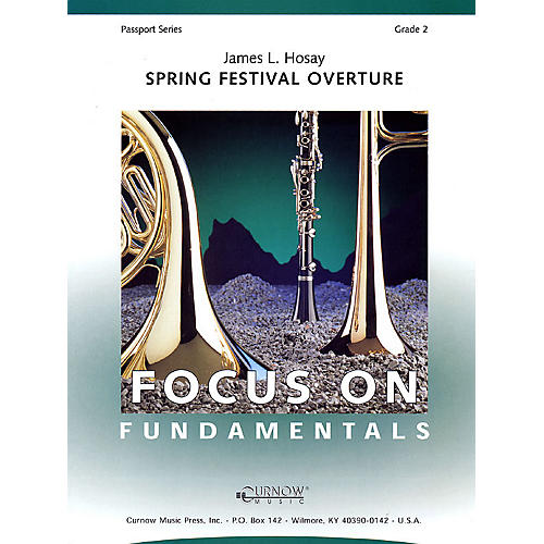 Curnow Music Spring Festival Overture (Grade 2 - Score Only) Concert Band Level 2 Composed by James L Hosay