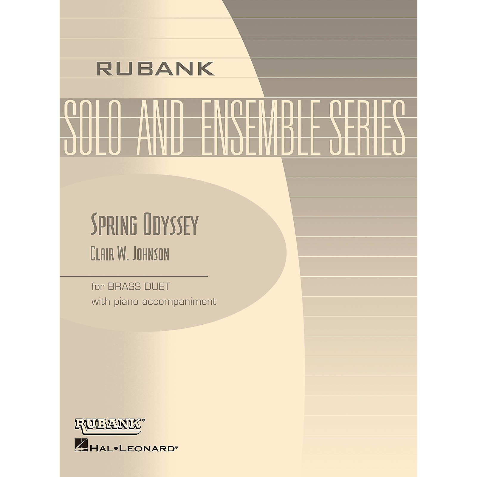 Rubank Publications Spring Odyssey (Brass Duet with Piano - Grade 3) Rubank Solo/Ensemble Sheet Series Book