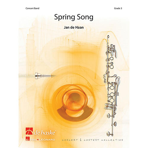De Haske Music Spring Song Concert Band Level 4 Composed by Jan de Haan