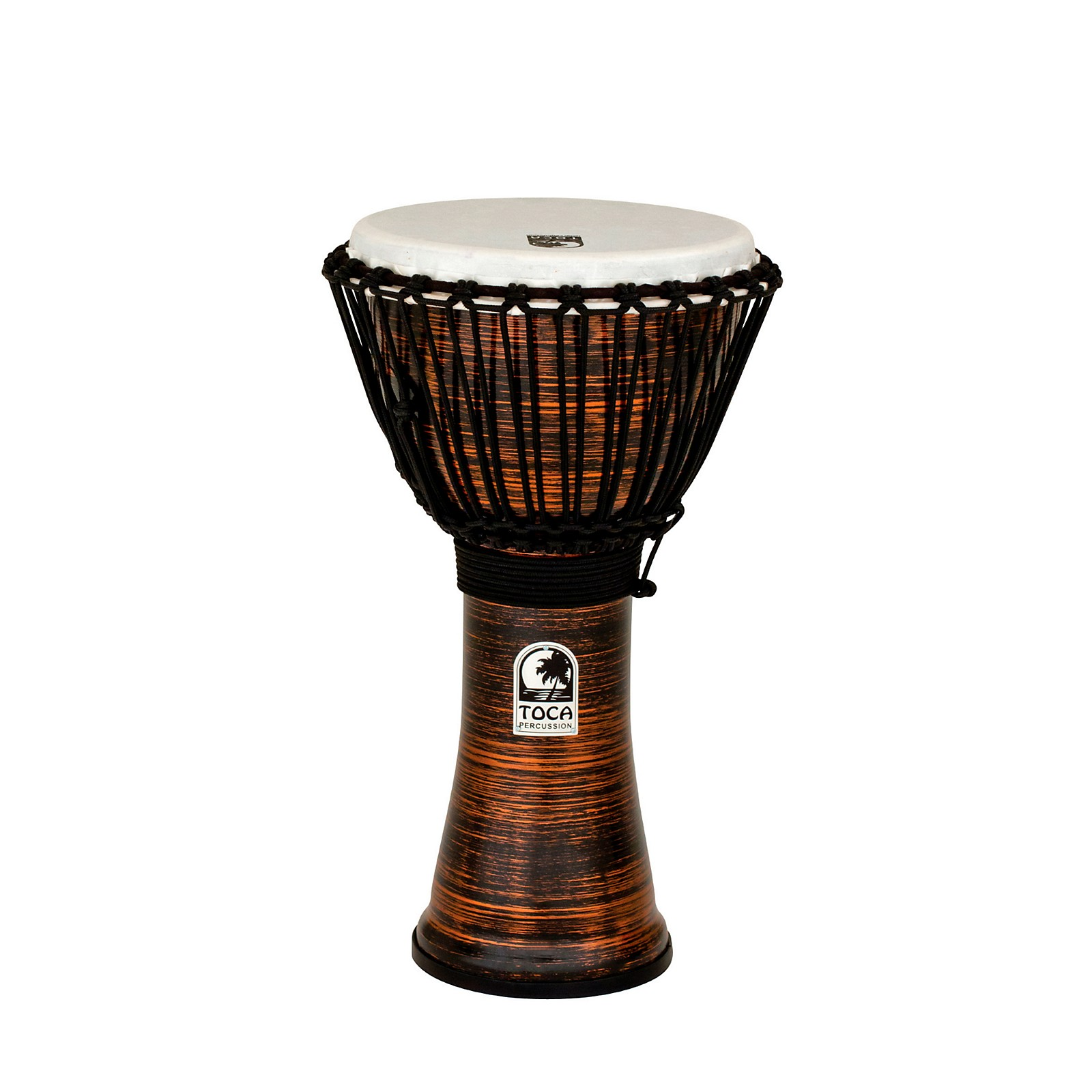Toca Spun Copper Rope Tuned Djembe 10 In