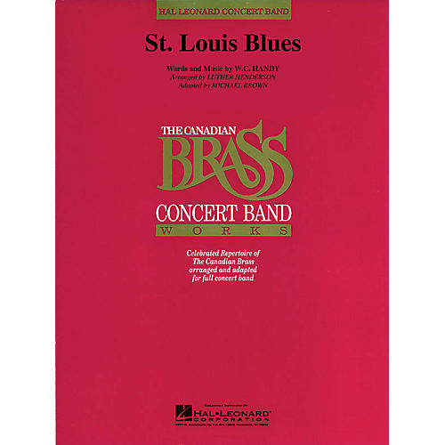 Hal Leonard St. Louis Blues Concert Band Level 4 Arranged by Luther Henderson