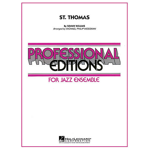 Hal Leonard St. Thomas Jazz Band Level 5 Arranged by Michael Philip Mossman