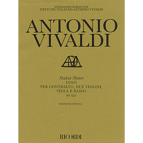 Ricordi Stabat Mater RV621 Study Score Series Composed by Antonio Vivaldi Edited by Paul Everette