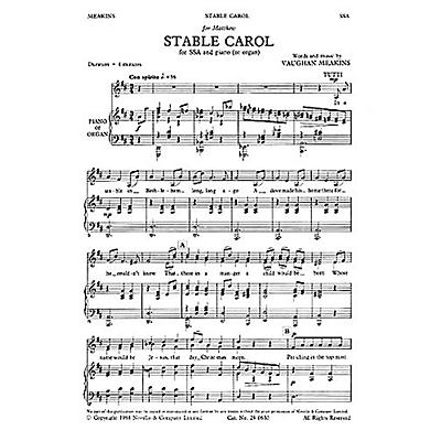 Novello Stable Carol SSA Composed by Vaughan Meakins