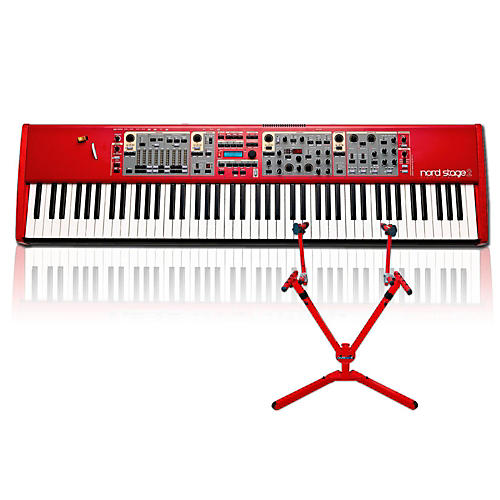 nord stage 2 ha88 with matching 2 tier keyboard stand musician 39 s friend. Black Bedroom Furniture Sets. Home Design Ideas