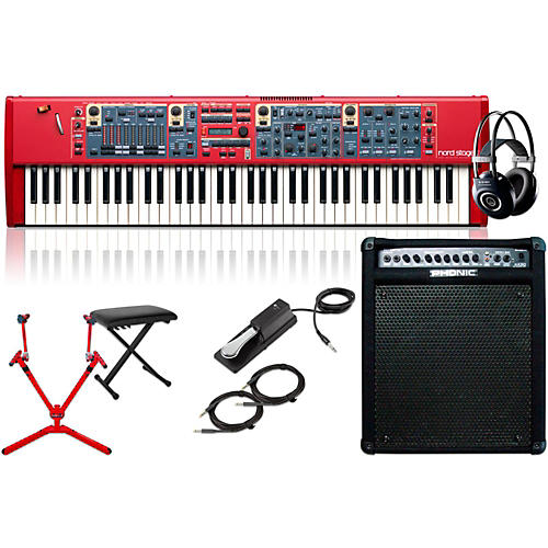 Nord Stage 2 SW73-Key with Keyboard Amplifer, Matching Stand, Headphones, Bench, and Sustain Pedal