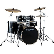 Stage Custom Birch 5-Piece Shell Pack with 20 inch Bass Drum Raven Black