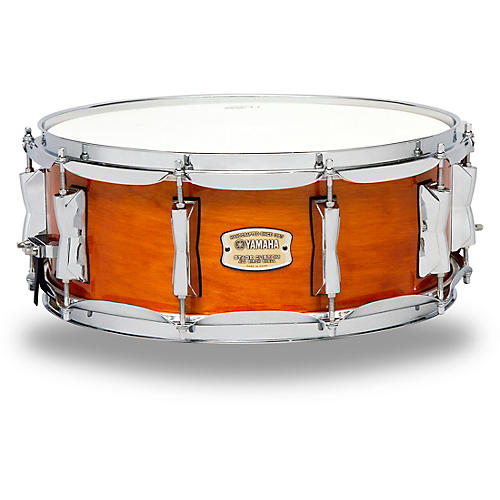 Yamaha stage custom birch snare 14 x 5 5 in honey amber for Yamaha stage custom steel snare drum 14x6 5