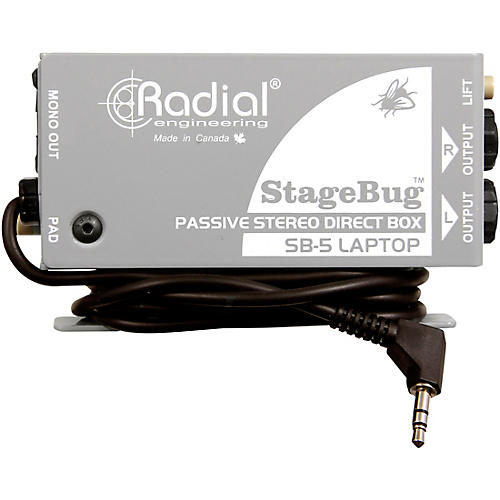 Radial Engineering StageBug SB-5 Stereo Laptop Direct Box