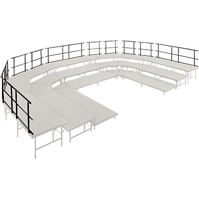 """Midwest Folding Products Stages & Seated Risers Guard Rails 30"""" Long"""