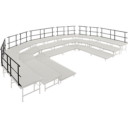 Midwest Folding Products Stages & Seated Risers Guard Rails 30